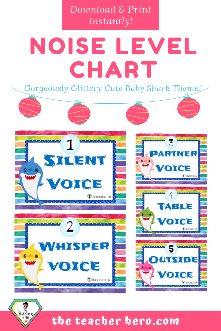 photo regarding Voice Level Chart Printable titled Trainer Software - Child Shark Sounds Stage Chart