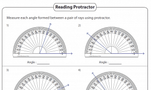 Angles – Printable Worksheets (4th and 7th Grade)