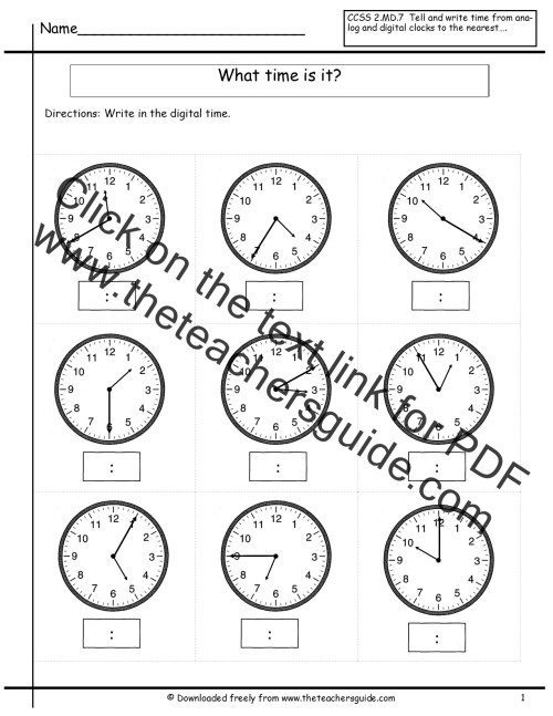 small resolution of time worksheet: NEW 872 TELLING TIME WORKSHEETS BY 5 MINUTES