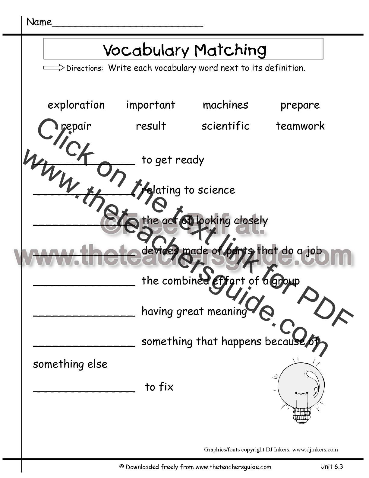 Wonders Second Grade Unit Six Week Three Printouts
