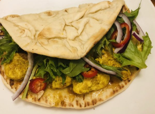 Curry Chicken Naan-wich with Mango Chutney