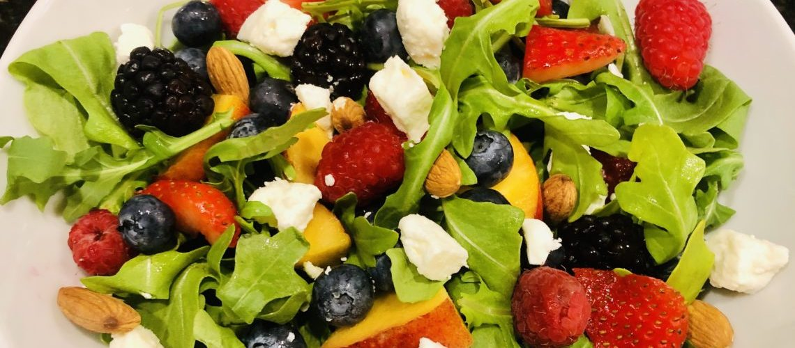 Perfectly Peachy Summer Berry Salad