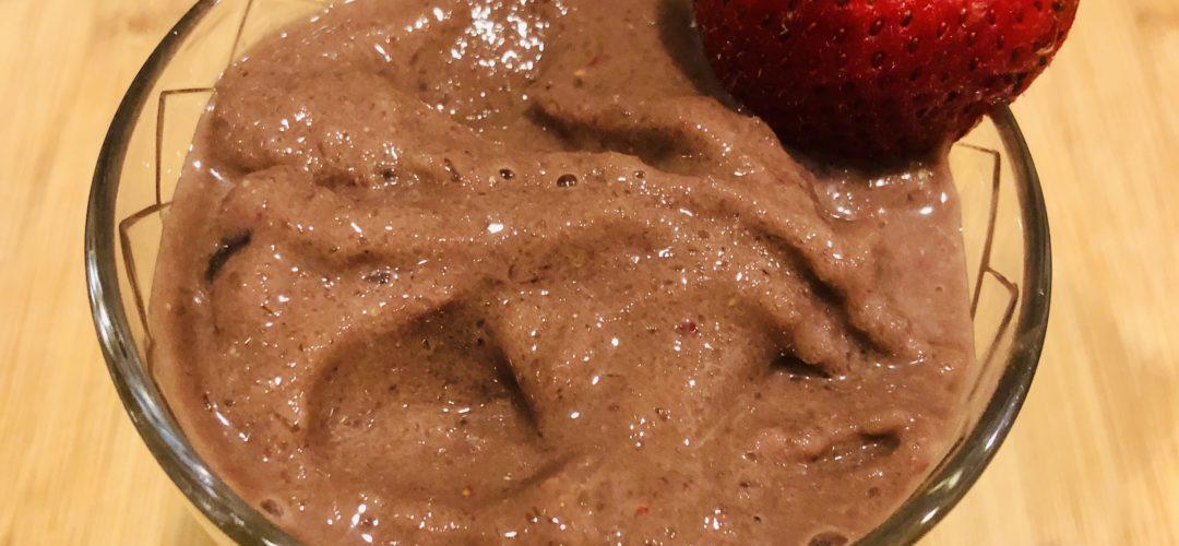 Strawberry Chocolate Almond Milk Smoothie