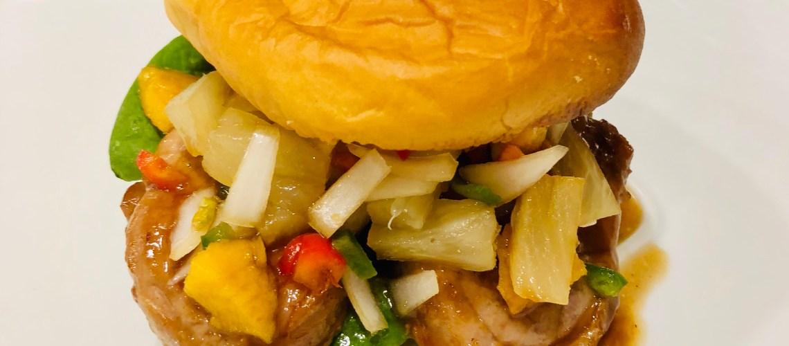 Tropical Teriyaki BBQ Pork with Mango Pineapple Salsa
