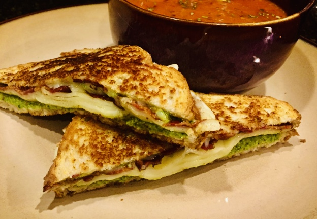 Pesto Bacon Grilled Cheese