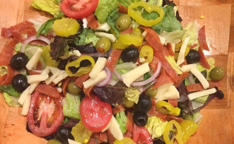 Antipasti Salad over Mixed Greens