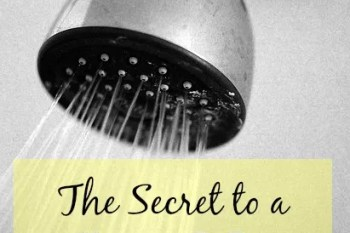 The Secret to a Sparkly Shower {in 1 minute or less}