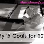 My 15 Goals for 2014 {January Update}