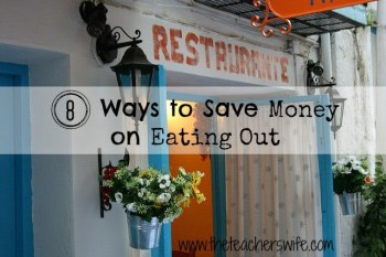 8 Ways to Save Money When Eating Out