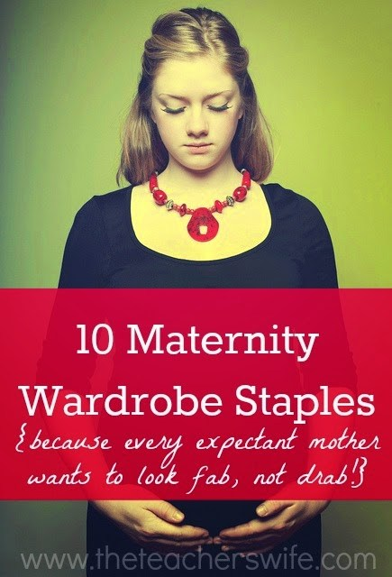 The key to maternity clothes is picking items that can be mixed and matched a number of ways. These 10 maternity wardrobe staples will help you do that!
