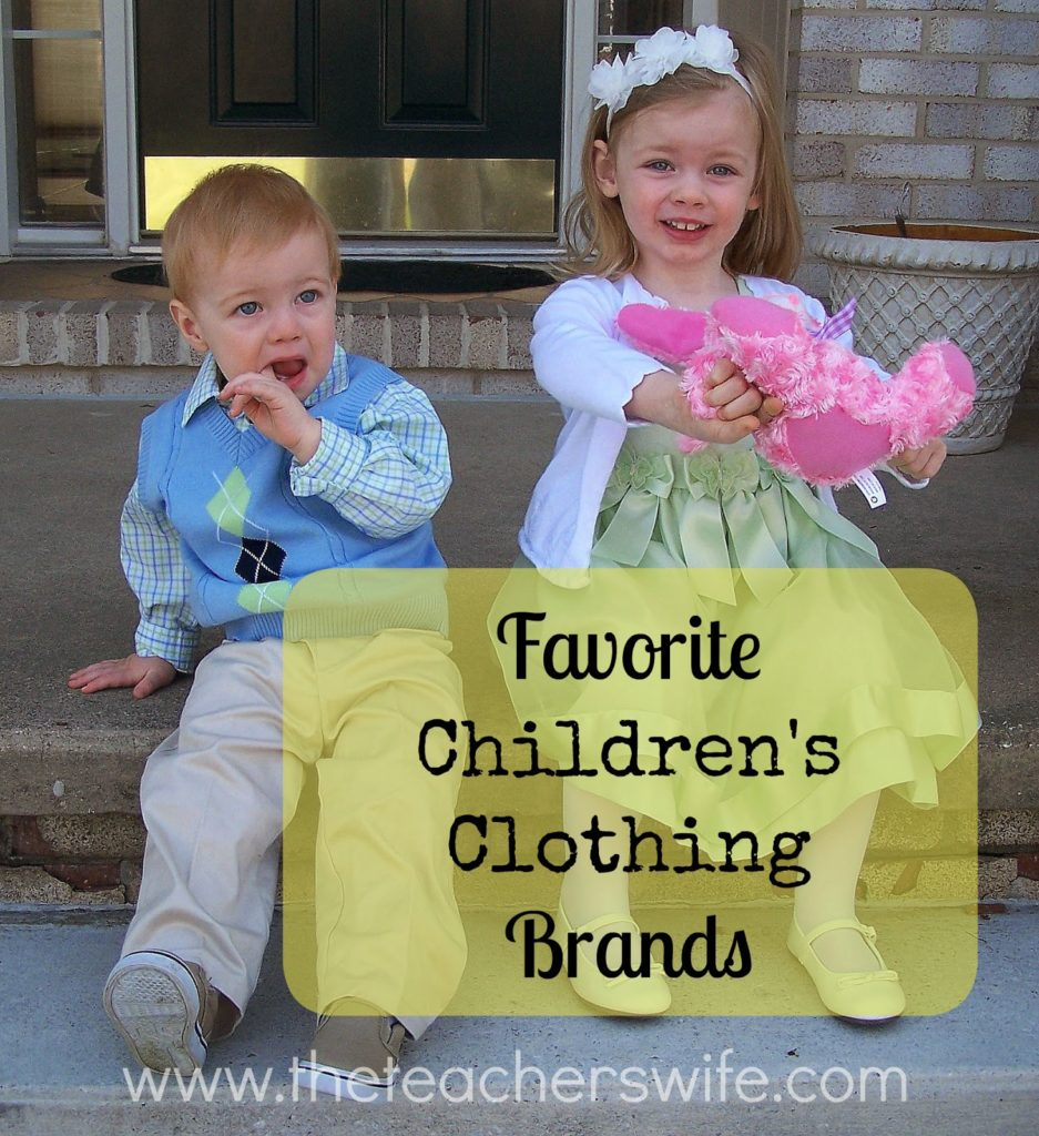Favorite Children's Clothing Brands