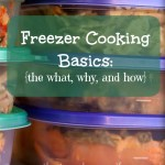 Freezer Cooking Basics:  the WHAT, WHY, and HOW