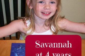 Savannah at 4 Years
