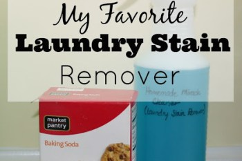 My FAVORITE Homemade Laundry Stain Remover