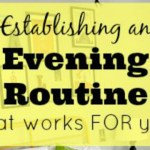 Establishing an Evening Routine