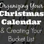 Organizing Your Christmas Calendar & Creating Your Bucket List – Day 3