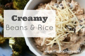 3 Ingredient Creamy Beans & Rice