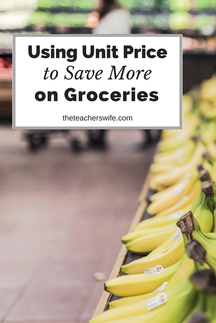 Unit price is one of my favorite ways to save money on groceries. I can compare items quickly and know what is the best value!
