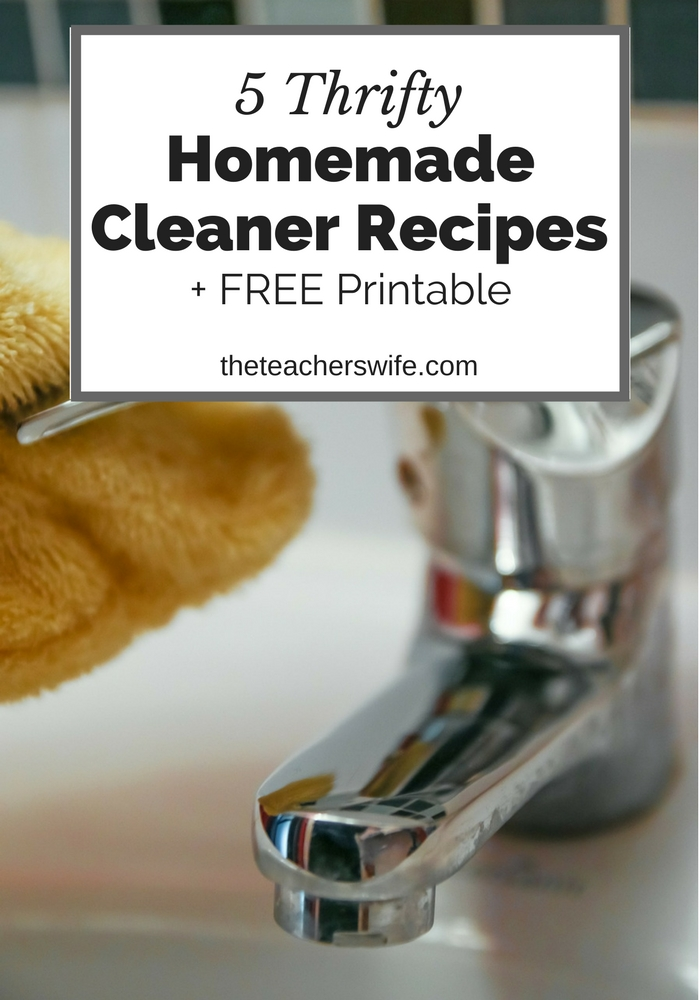 These 5 thrifty homemade cleaner recipes are so quick and easy to mix up. You'll be cleaning your way to savings!