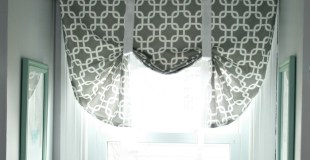 The Easiest DIY Window Valance (even if you barely know how to sew)