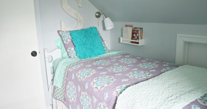 A Bright & Colorful Lavender Girl Room Reveal