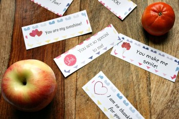 These Valentine's Day lunchbox love notes include sweet and simple messages that are sure to put a smile on your child's face. Print some out and show them some love for the entire month!