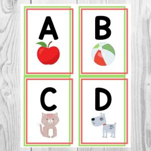 Alphabet Flashcards Free Printable - The Teaching Aunt