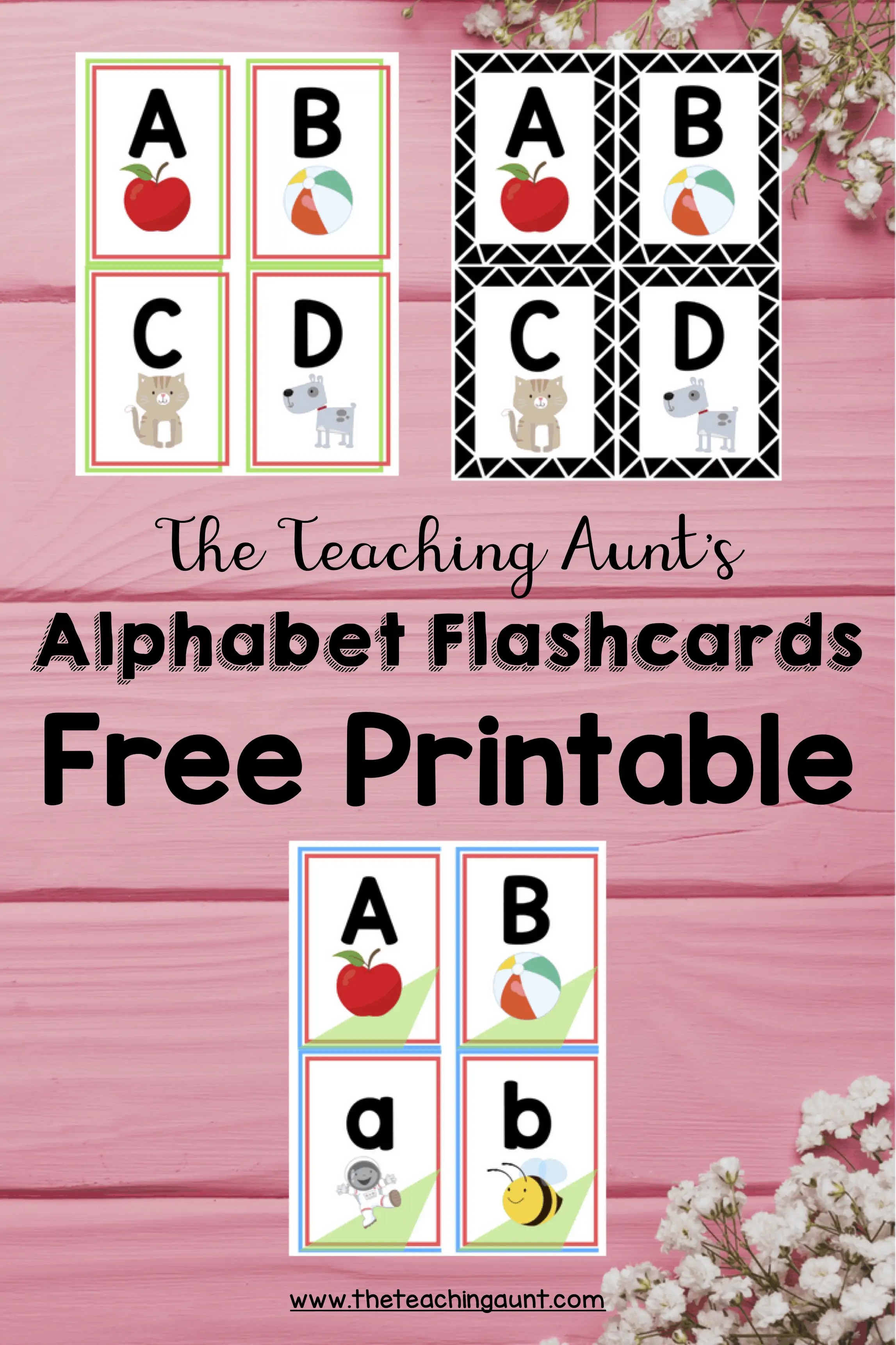 photograph relating to Number Flash Cards Printable named Alphabet Flashcards Absolutely free Printable - The Coaching Aunt