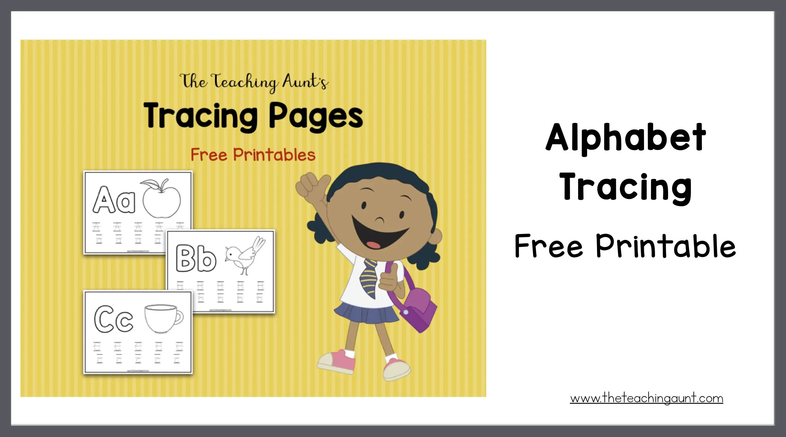 photograph relating to Printable Font called Alphabet Tracing Absolutely free Printable - The Training Aunt