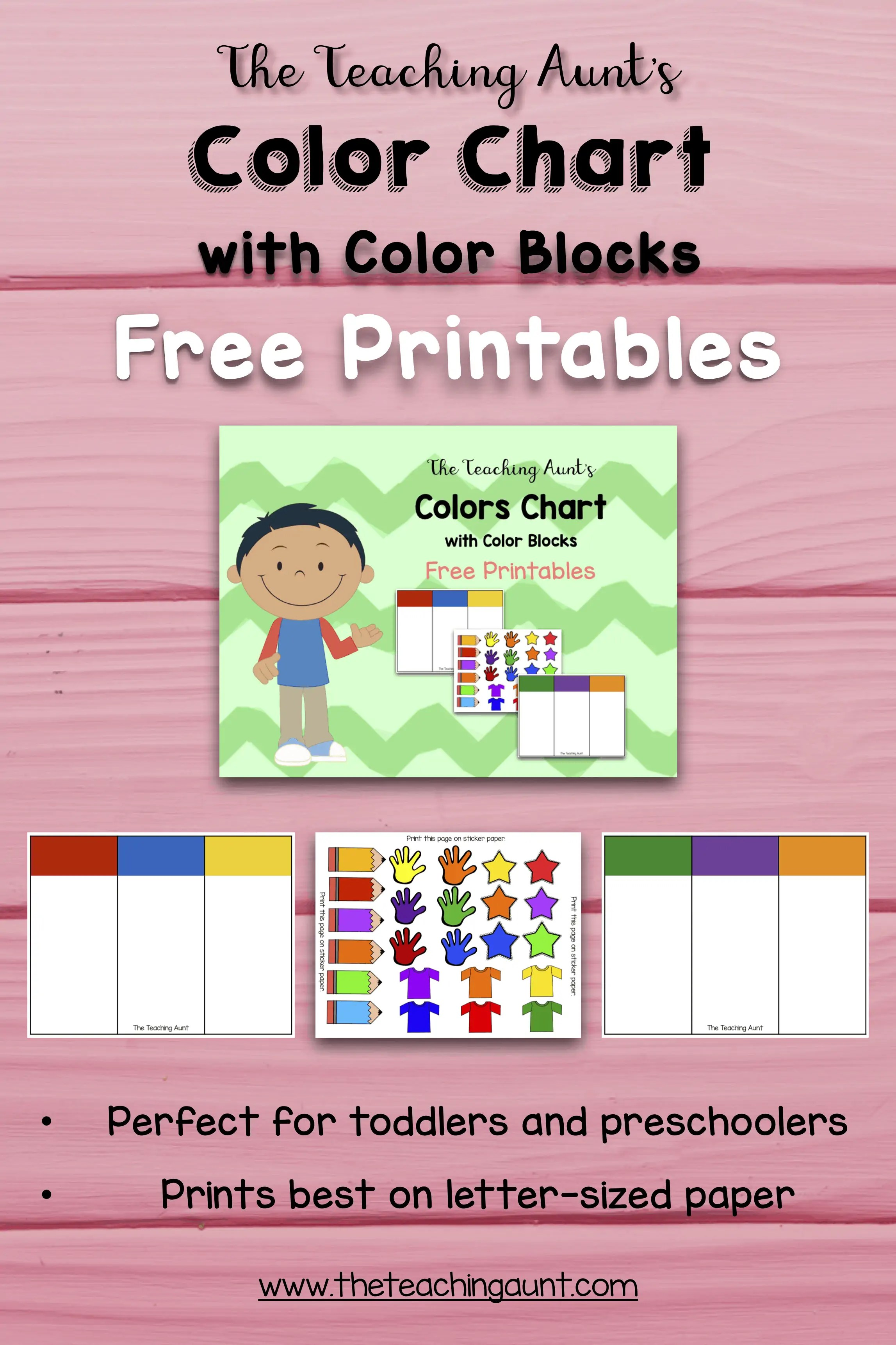 image relating to Free Printable Color Chart referred to as Colour Charts for Babies and Preschoolers Cost-free Printable