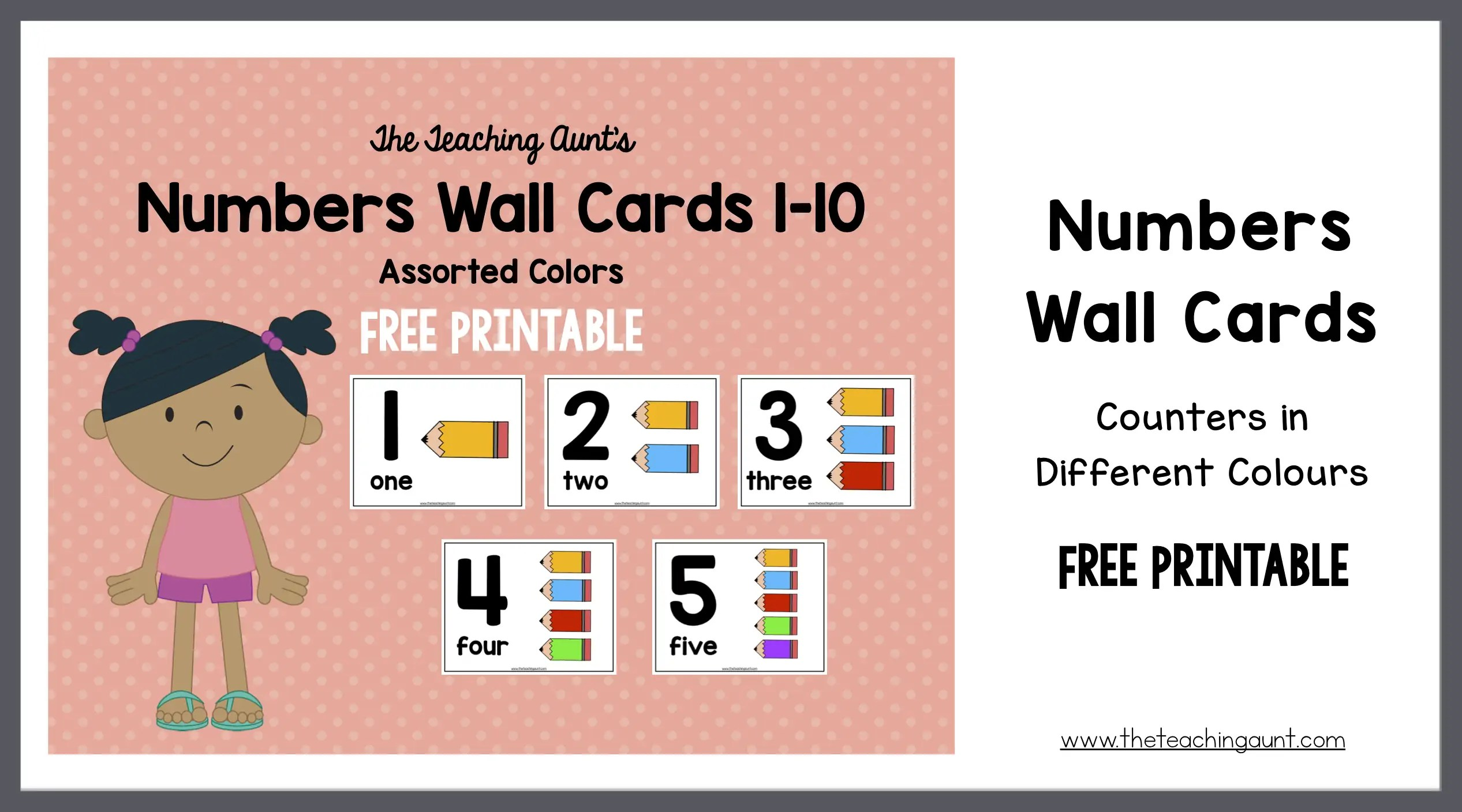 photo relating to Printable Number Cards 1 10 named Range Wall Playing cards for Preschoolers with Vibrant Pencil