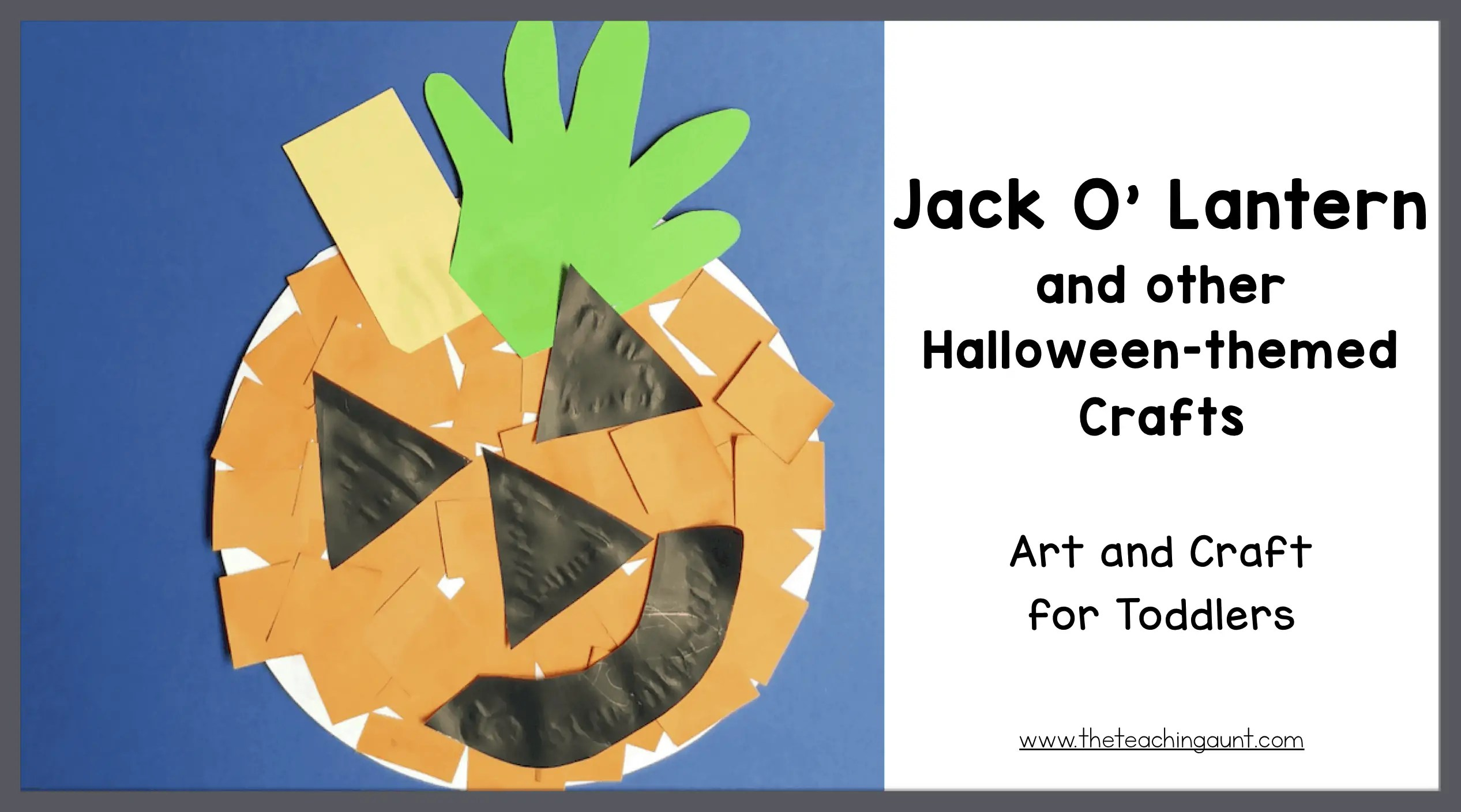 Jack O' Lantern Craft for Toddlers