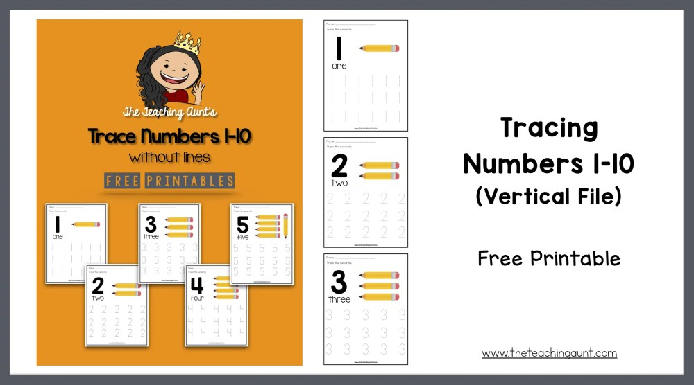 Number Tracing Worksheets For Preschoolers The Teaching Aunt
