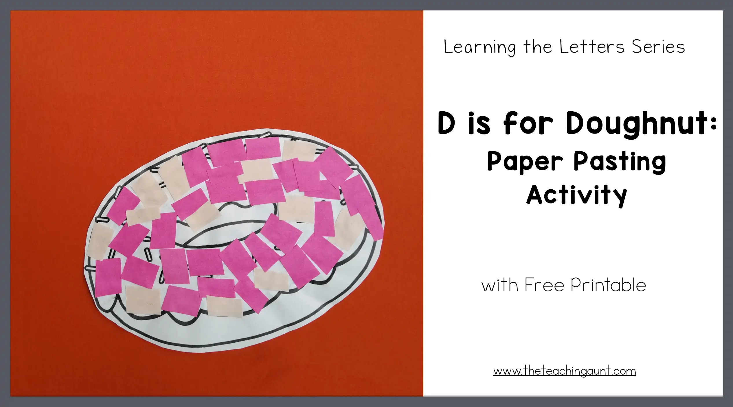 picture about Printable D&d Miniatures known as D is for Doughnut: Paper Pasting Match - The Coaching Aunt