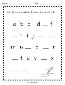 Free Alphabet Worksheets - The Teaching Aunt