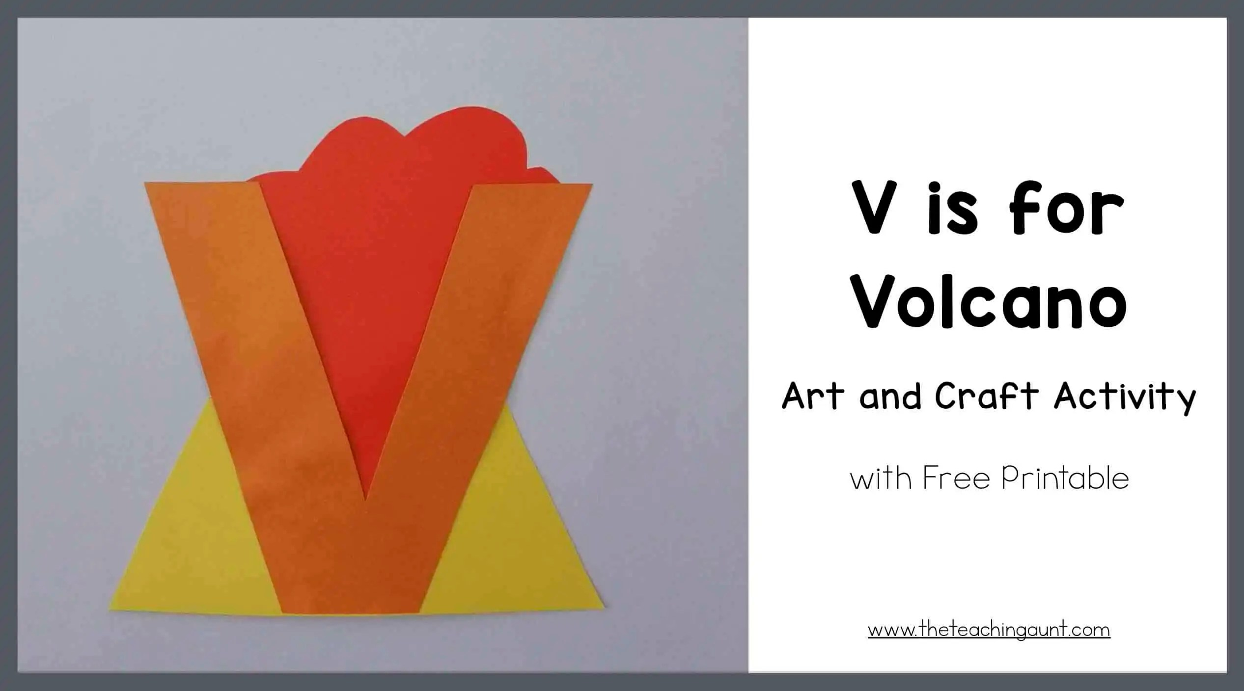 3-D Volcano Craft-did not find the link to this worksheet. So I ...   1408x2533