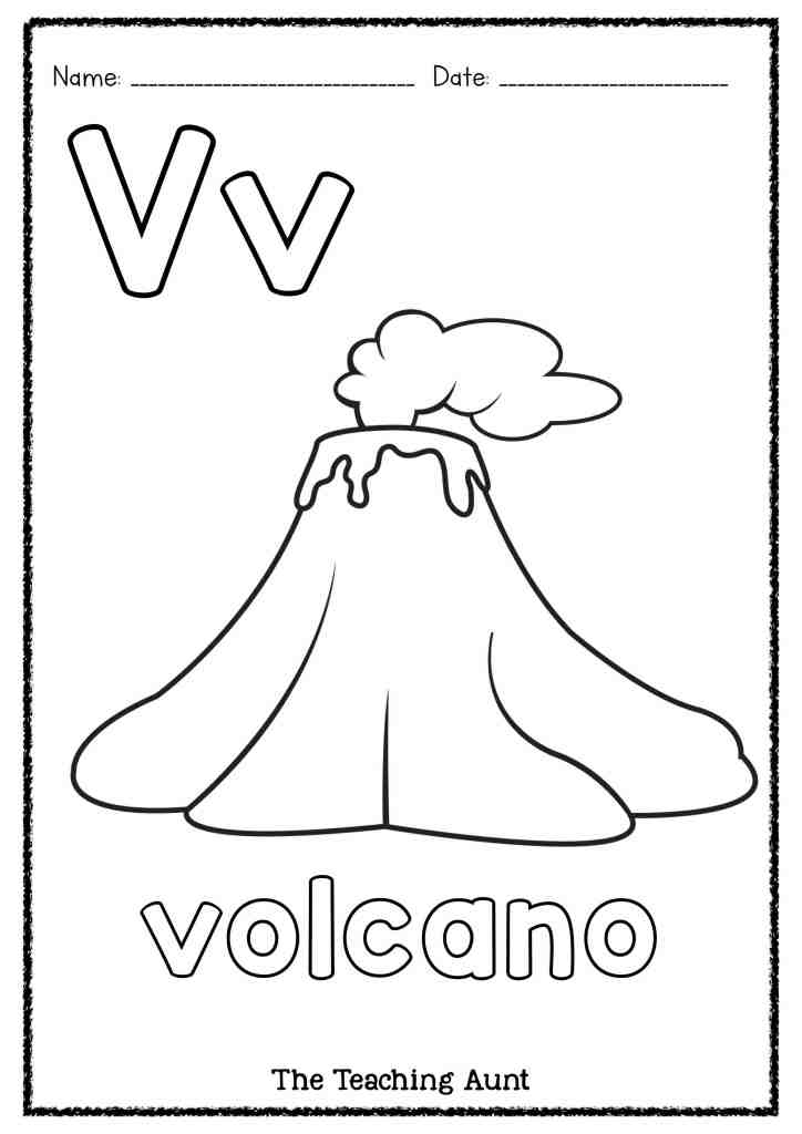 V Is For Volcano Art And Craft The Teaching Aunt