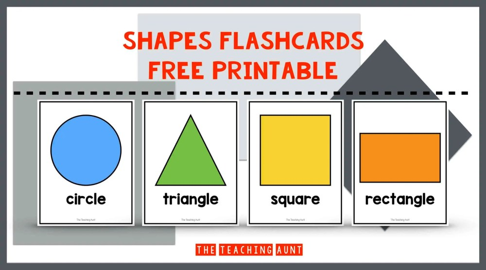 Shapes Flashcards Free Printable The Teaching Aunt