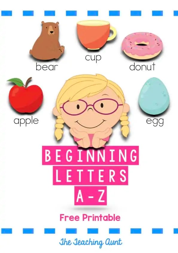 Free Beginning Letter Sounds Worksheets - The Teaching Aunt