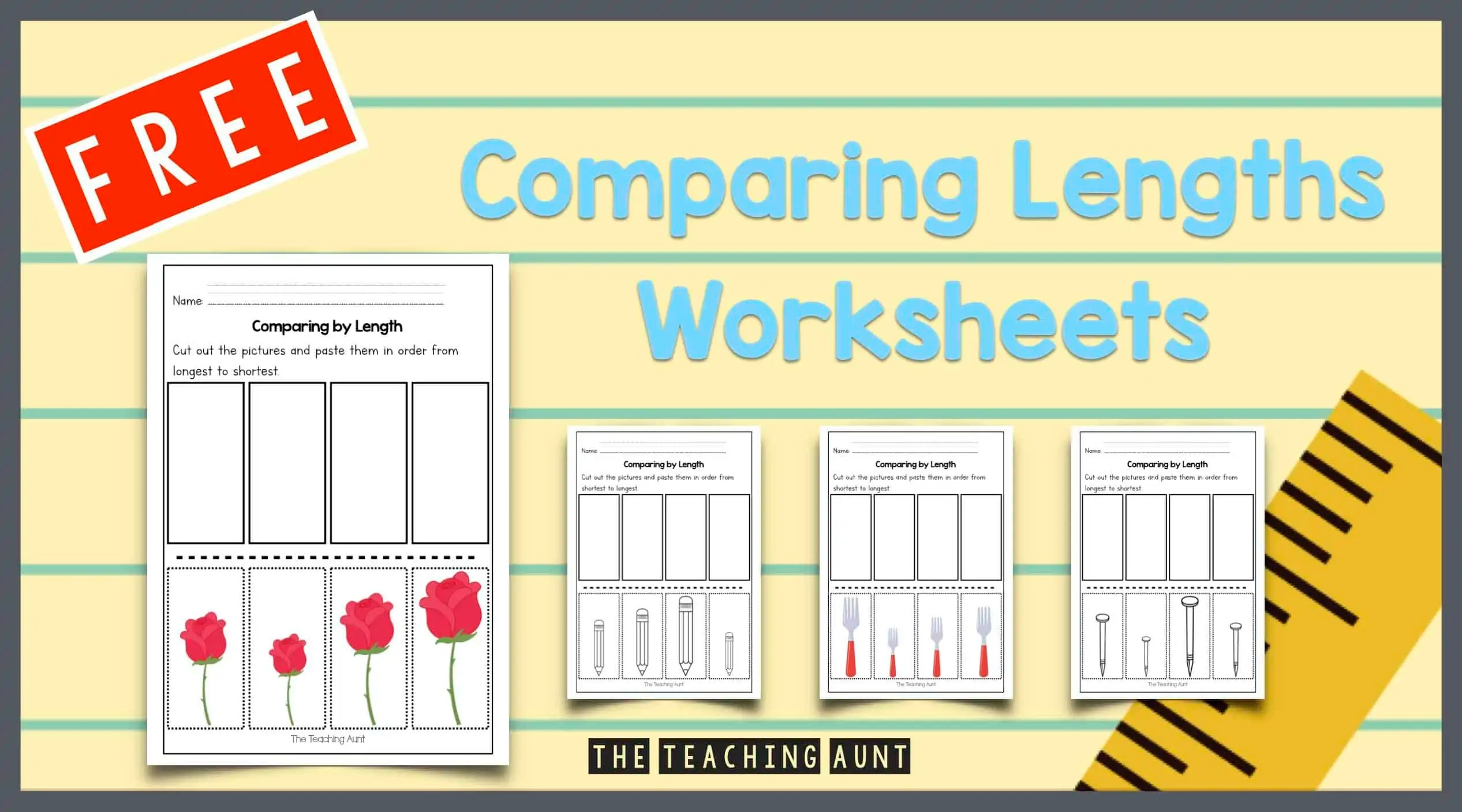 Free Comparing Lengths Worksheets - The Teaching Aunt