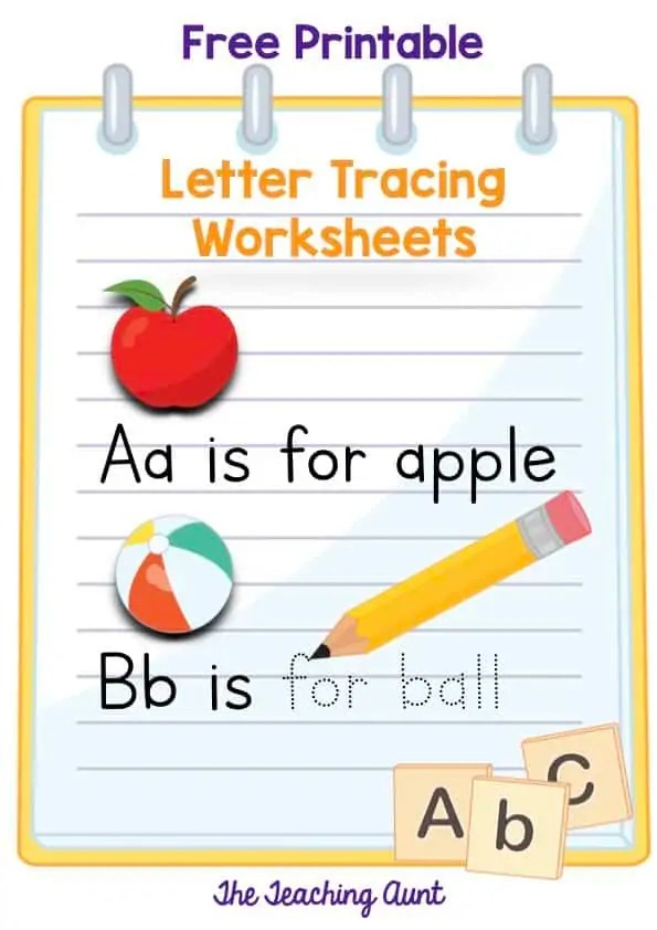 Letters Tracing Worksheets - The Teaching Aunt