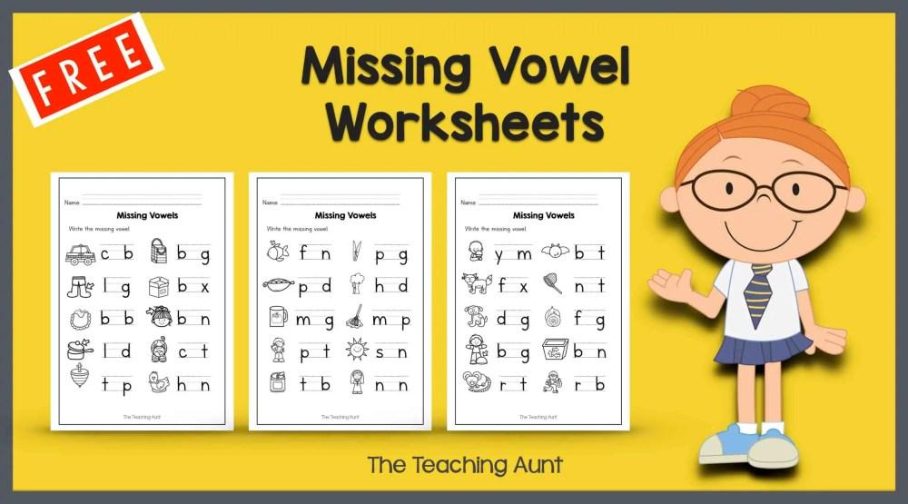 medium resolution of Missing Vowel Worksheets for Kindergarten - The Teaching Aunt