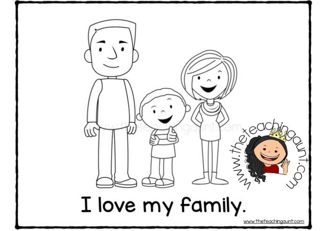 Free Family Members Coloring Pages - The Teaching Aunt