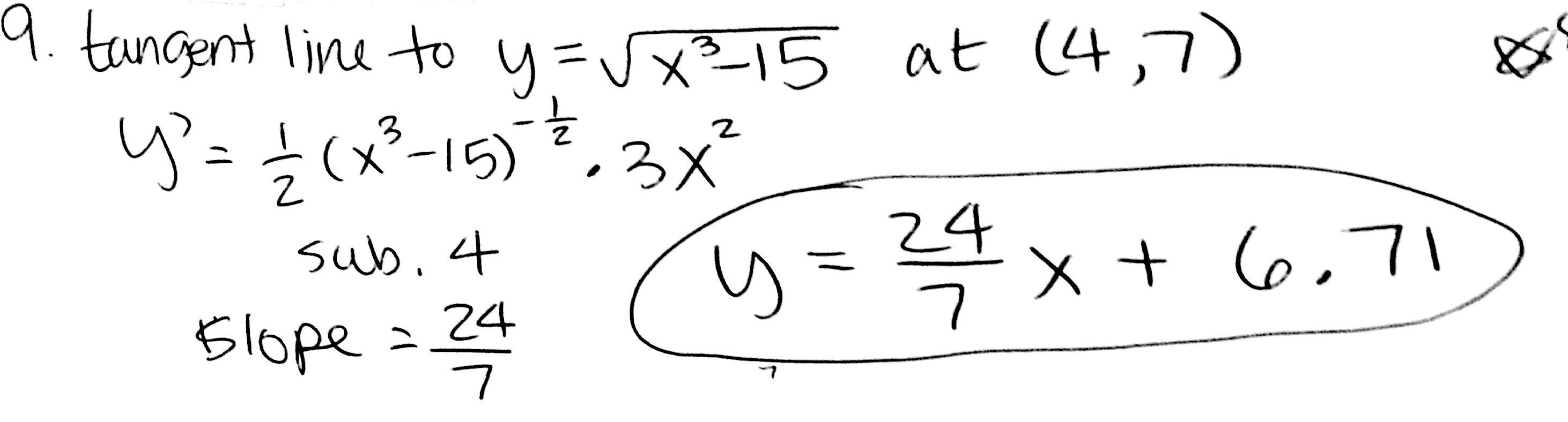 Apcalc Lesson 8 Tangent And Normal Lines