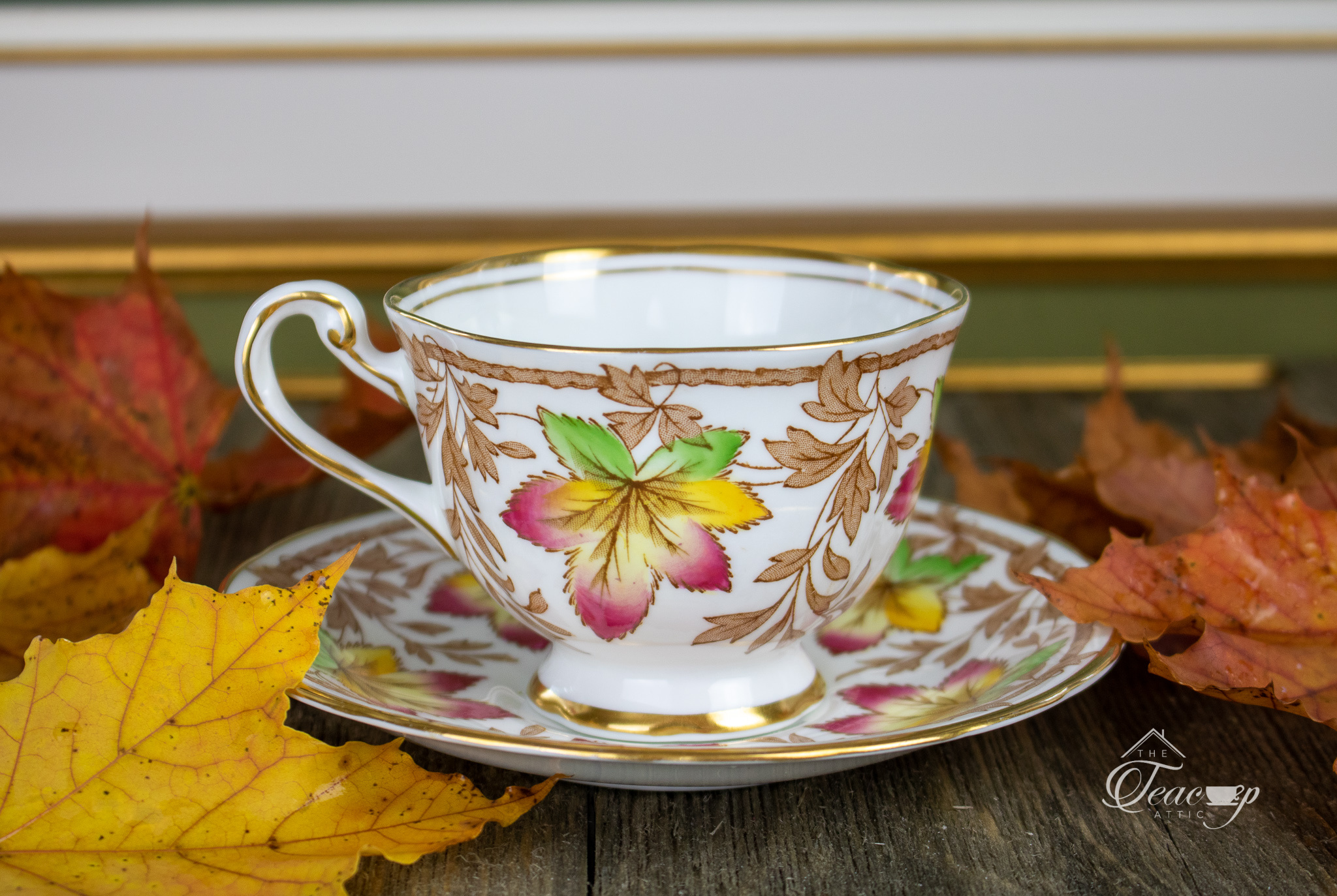 Autumn Leaves by Princess cup and Saucer Kitchen & Dining Home ...