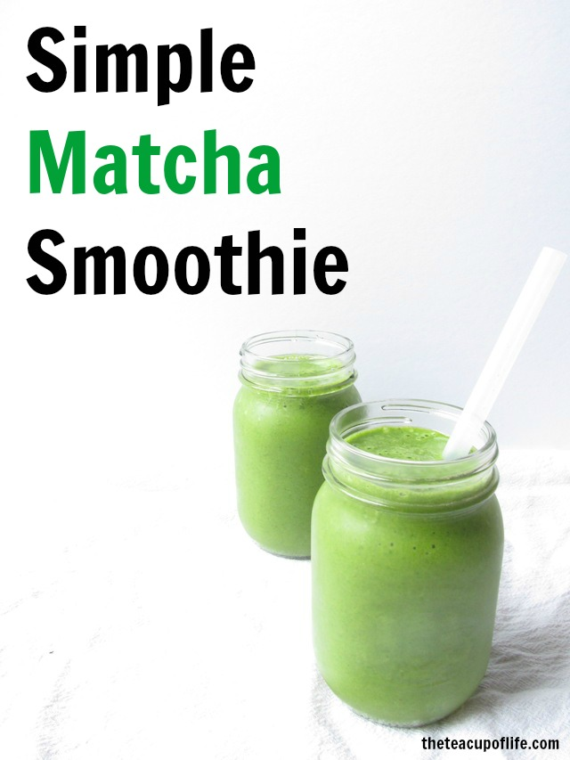 simple matcha smoothie