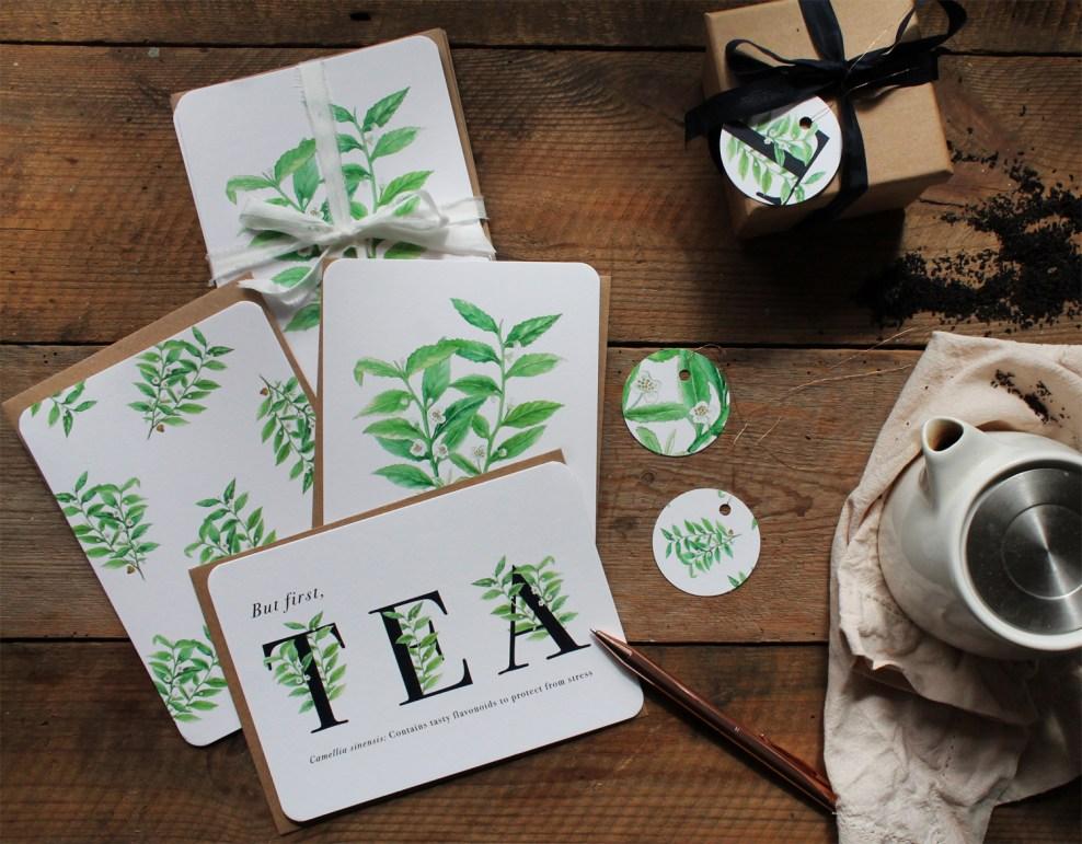 Tea Plant Greeting Cards