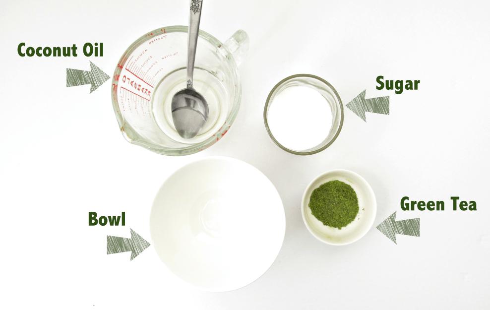 DIY Green Tea Body Scrub