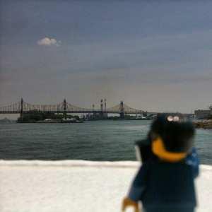 Lego minifigure new york harbor July 2014