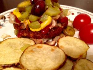 Veggie Burger with Potato Medallions 2.7.18